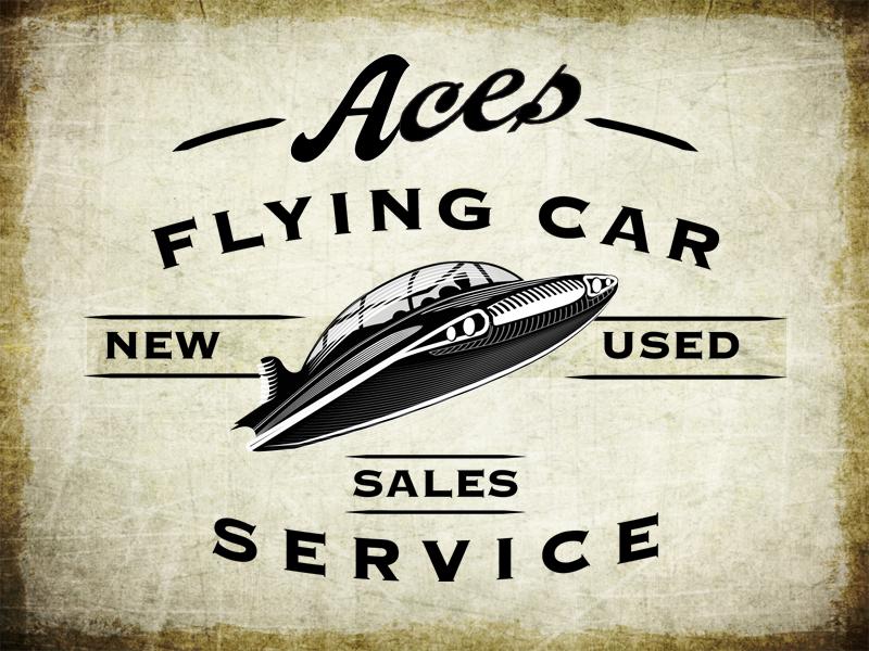 Aces Flying Car Service flying car aces script retro vintage cars