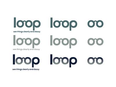 Loop Logo Design branding vector logo typography layout graphic design design