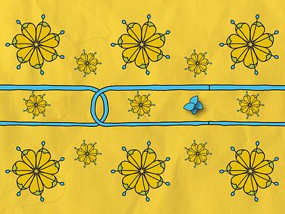 Stylised linden flower pattern illustrator cc line art flower pattern linden