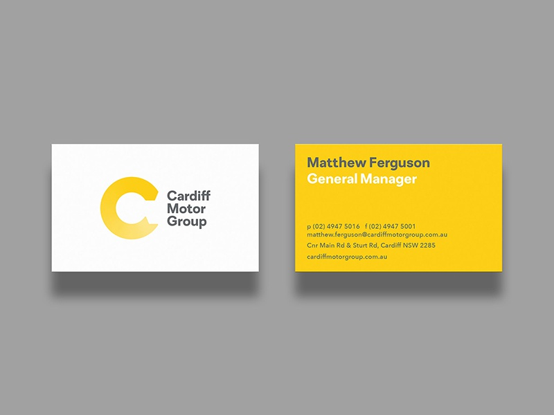 Cardiff Motor Group Business Cards by Shorthand - Dribbble