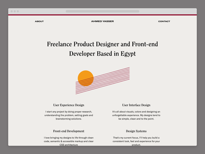 ahmdyassr.com — v3 typography personal website portfolio clean minimal