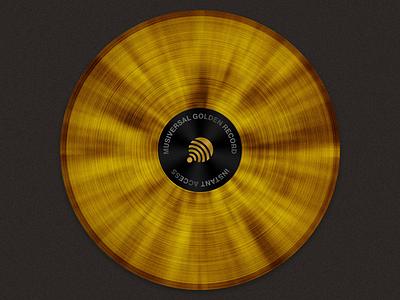 The Golden Record cd golden record musician music vinyl record vinyl record copper luxurious shine shiny gold golden musiversal