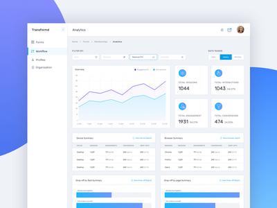 Analytics Dashboard stats statistics charts chart dashboard analytics