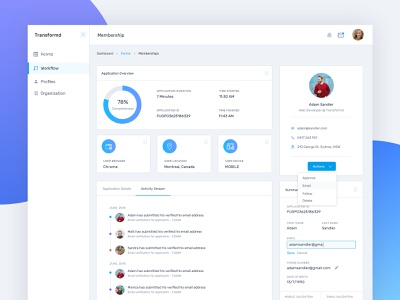Application Overview Dashboard clean insights chart analytics dashboard overview