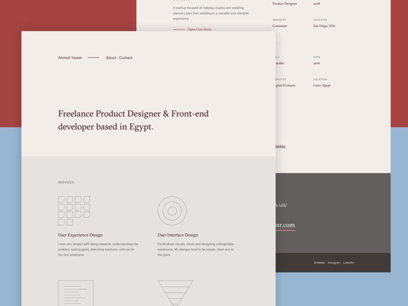 ahmdyassr.com — v2 typography clean minimal personal portfolio
