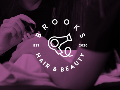 Brooks Hair & Beauty - Rebrand Concept branding vibrant ux ui illustrator uiux graphic graphics graphic design design