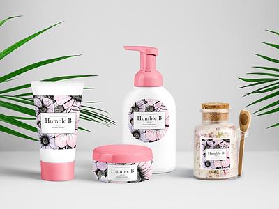 Humble B illustration pastel floral art ux ui product design webdesign web design