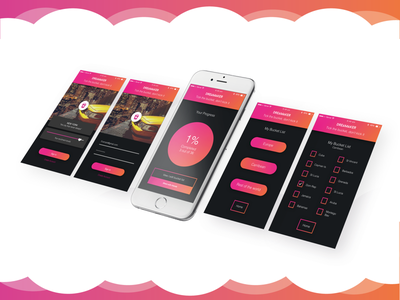 Dreamaker m pastel mock up designing ideas illustration art concept app design app pink colours vibrant user experience user interface ux ui graphic design graphic design