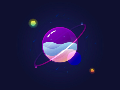 Glass Galaxy 💜 simple space exploration space art practice learning tutorial effects experience uiux ux ui purple layers galaxy space designer graphic design graphics design graphic