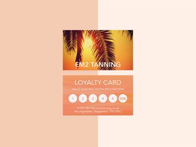 Loyalty Card ☀️ creations creative digital art designer graphics graphic vector illustration interface uiux design card loyalty vibrant orange tanning colours branding