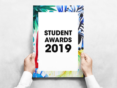 Student Awards Campaign uiux typography graphics graphic vector indesign mock up pastel colourful poster design