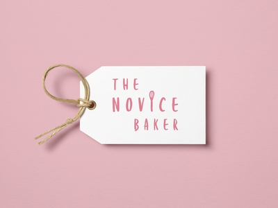 The Novice Baker typography font soft uiux pastel pink creative adobe illustrator branding bakery