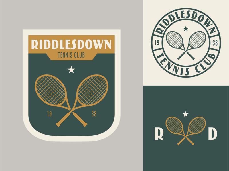 Riddlesdown Tennis Club Logo badge logo badge tennis branding logo