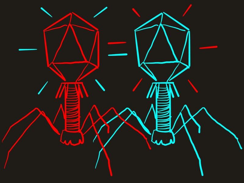 Viruses black background viruses virus illustration