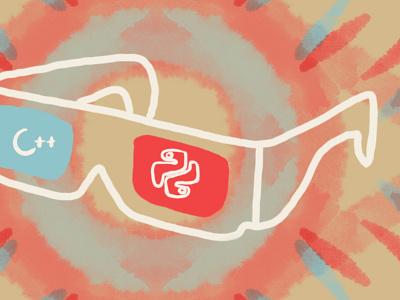 For article about stereovision programming (fragment) stereovision vr ar illustration