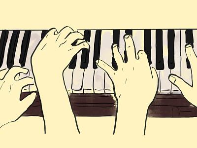 Colab Coding hands illustration