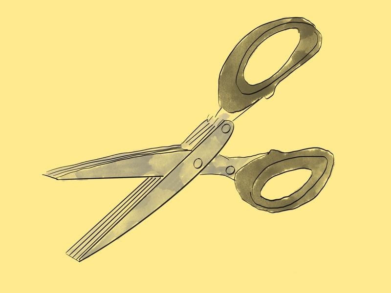 Multiple scissors household scissors illustration