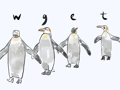 wget animal illustration illustration