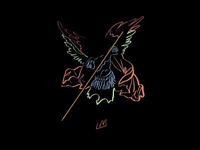 A line angel illustration