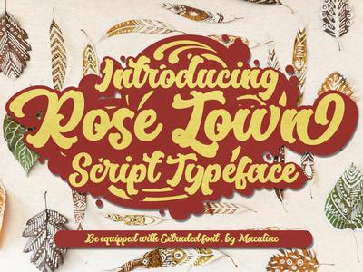 Rose Town Script Font