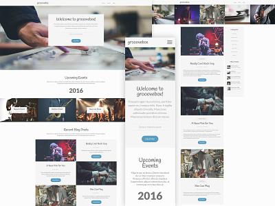 Grooovebox Website responsive layout mobile ui blog events music craft cms web desgin responsive front-end development