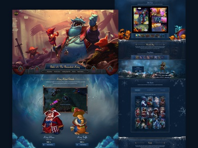 Gaming Winter Holiday Site graphic klout gaming winter blue web design front-end development