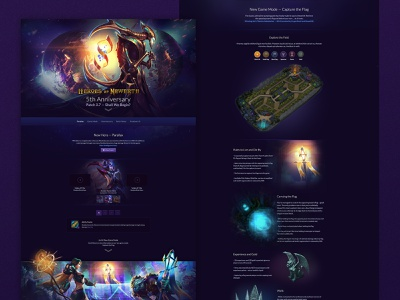 Gaming Anniversary Site purple gaming web design front-end development