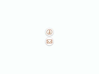 Little Icons icons illustration buttons orange