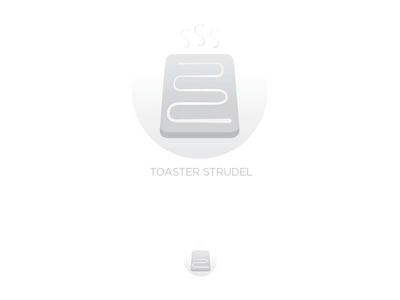 Logo design logo gray toaster strudel