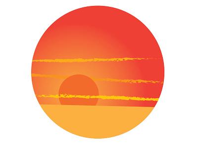 Sun Illustration illustration sun orange yellow hot desert