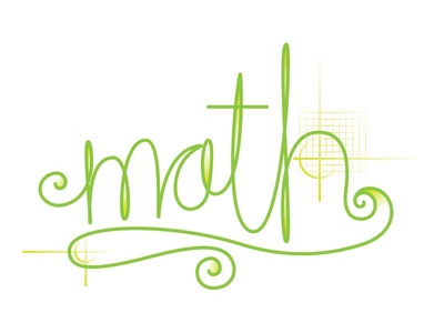 Math Lettering lettering math green