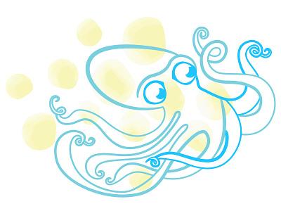 Octopie3 illustration octopus dots