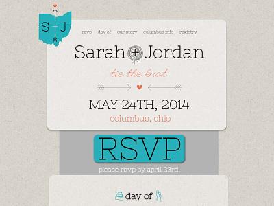 S + J Website website wedding mock-up rsvp