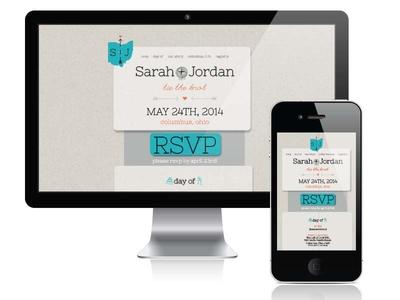 S+J Site website wedding mock-up responsive