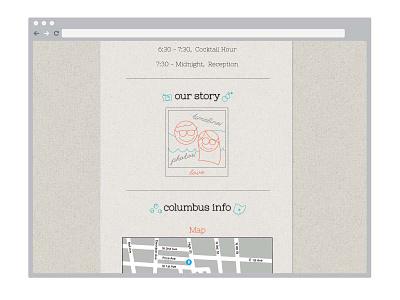 S+J Website website wedding mock-up details