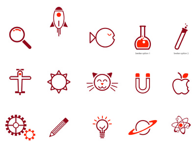 Science Icon Set icon illustration science museum icons
