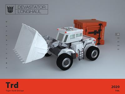 transforms Devastator c4d transformers