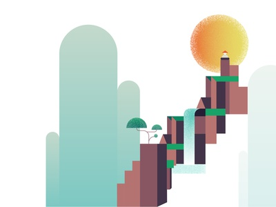 Mountain Clarity two vector minimal illustration