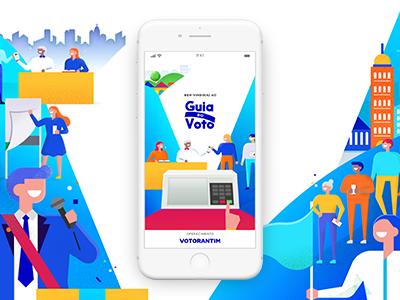 App Guia do Voto vote politic colorful layout user experience ui design app illustration ux