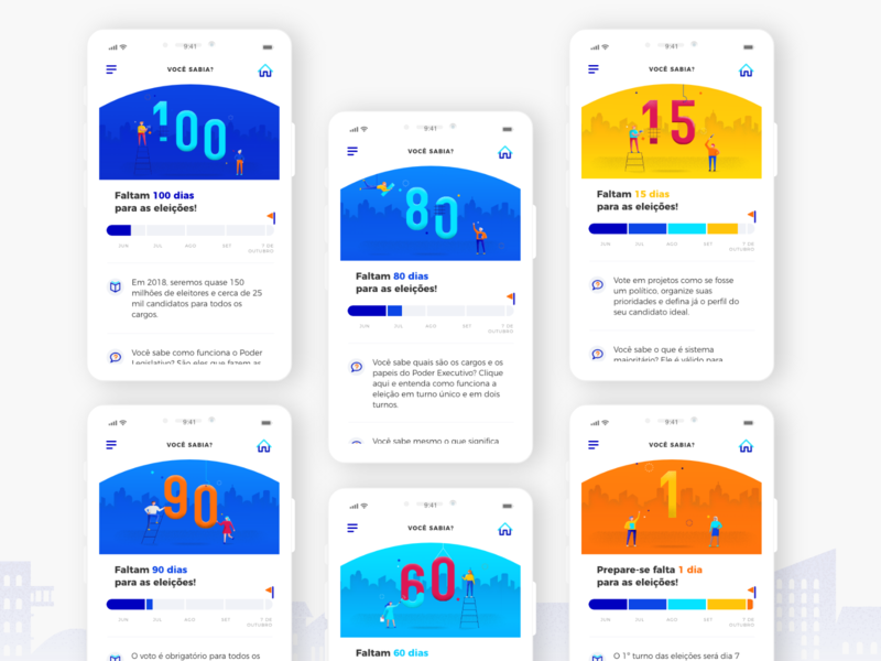 Countdown to the election countdown days election ux app design ui