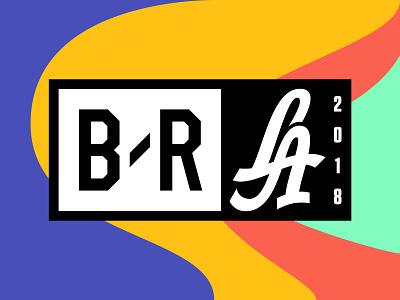 B/R LA 2018 logo event branding branding event bleacher report typography
