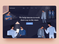 Landing page with illustration