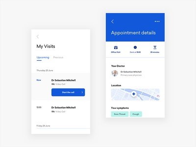 Medical Booking App interface detail clean map typography layout application design minimal ui mobile app