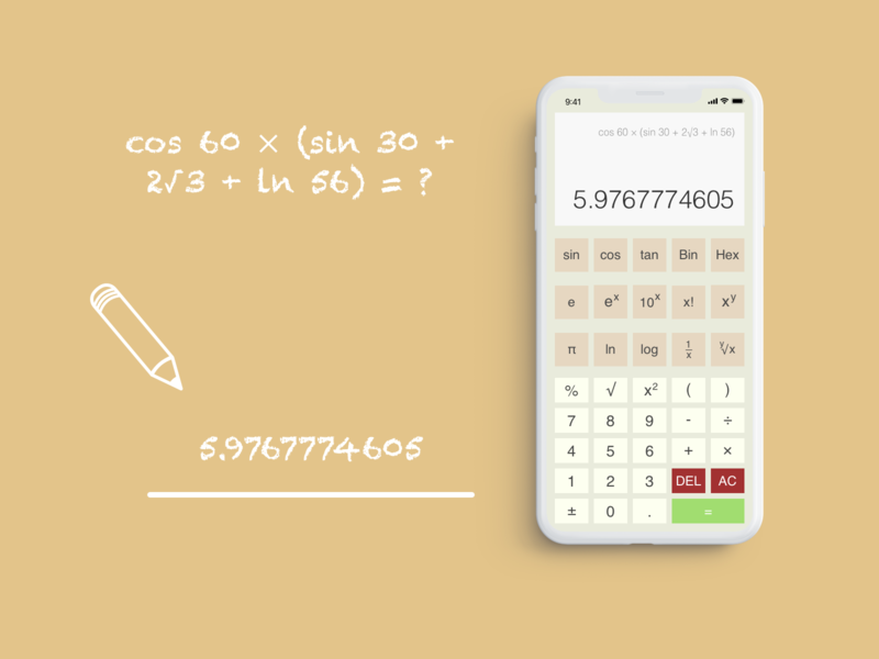 Daily UI Challenge #004 -- Calculator calculator calculator ui dailyui004 design ui dailyui