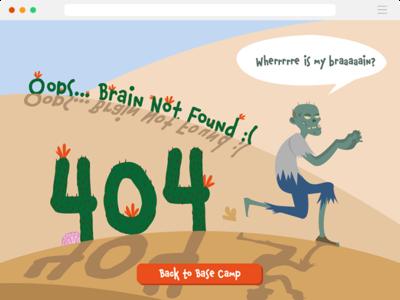 Daily UI Challenge 008 -- 404 Page 404 404 page adobe illustrator dialyui008 daily ui 008 illustration daily ui challenge design daily ui ui dailyui