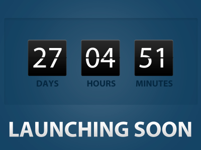 Countdown countdown clock timer launch teaser preview designcurate