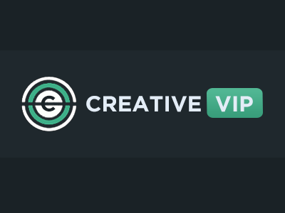 Creative VIP Logo creativevip logo branding creative circle