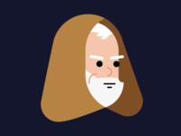 Obi Wan flat icon