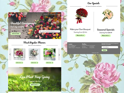 Flower shop web design