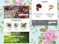 Flower shop web design